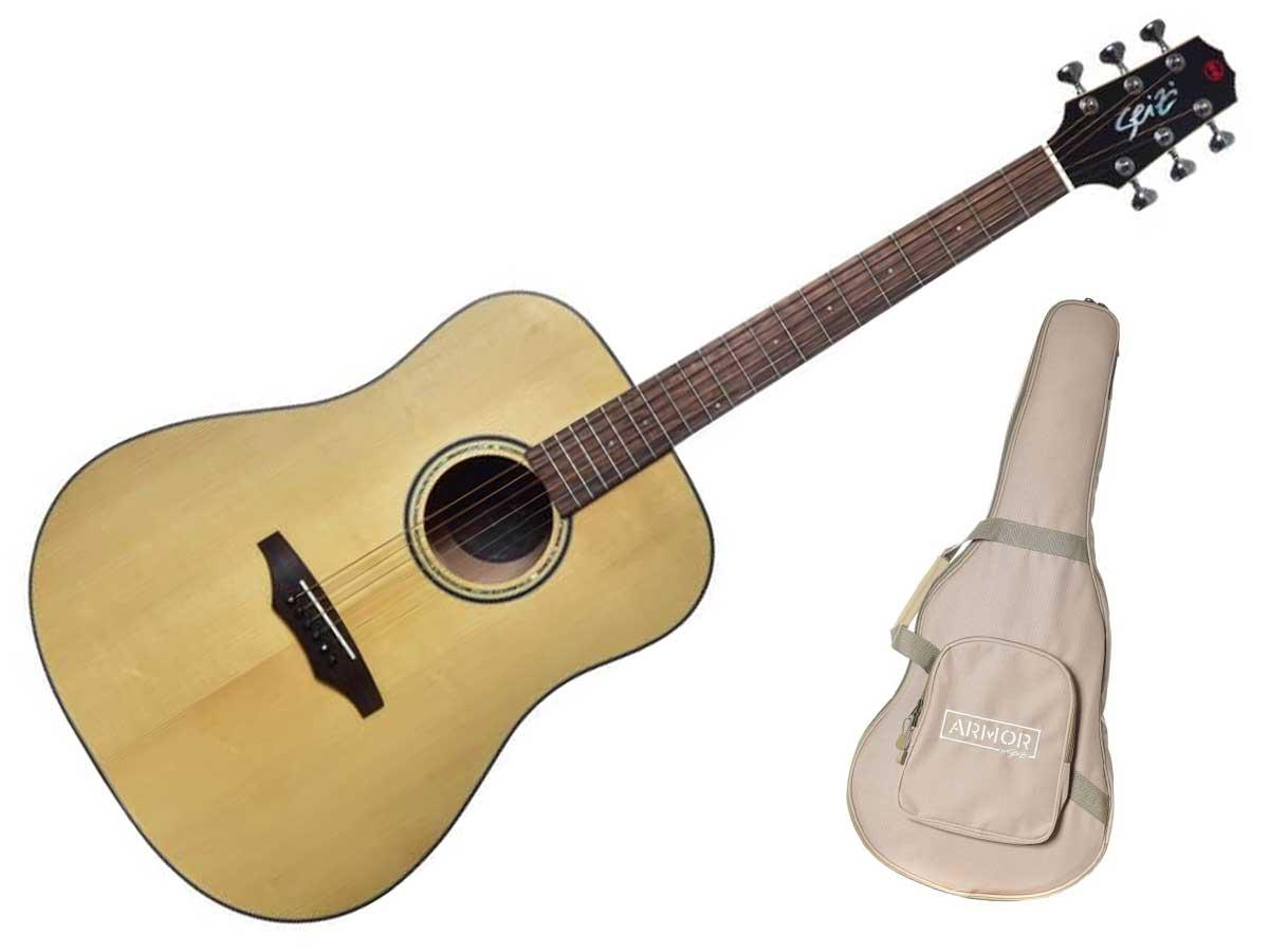 Violão Aço Seizi Supreme Kaiju Folk Eletroacústico com Bag