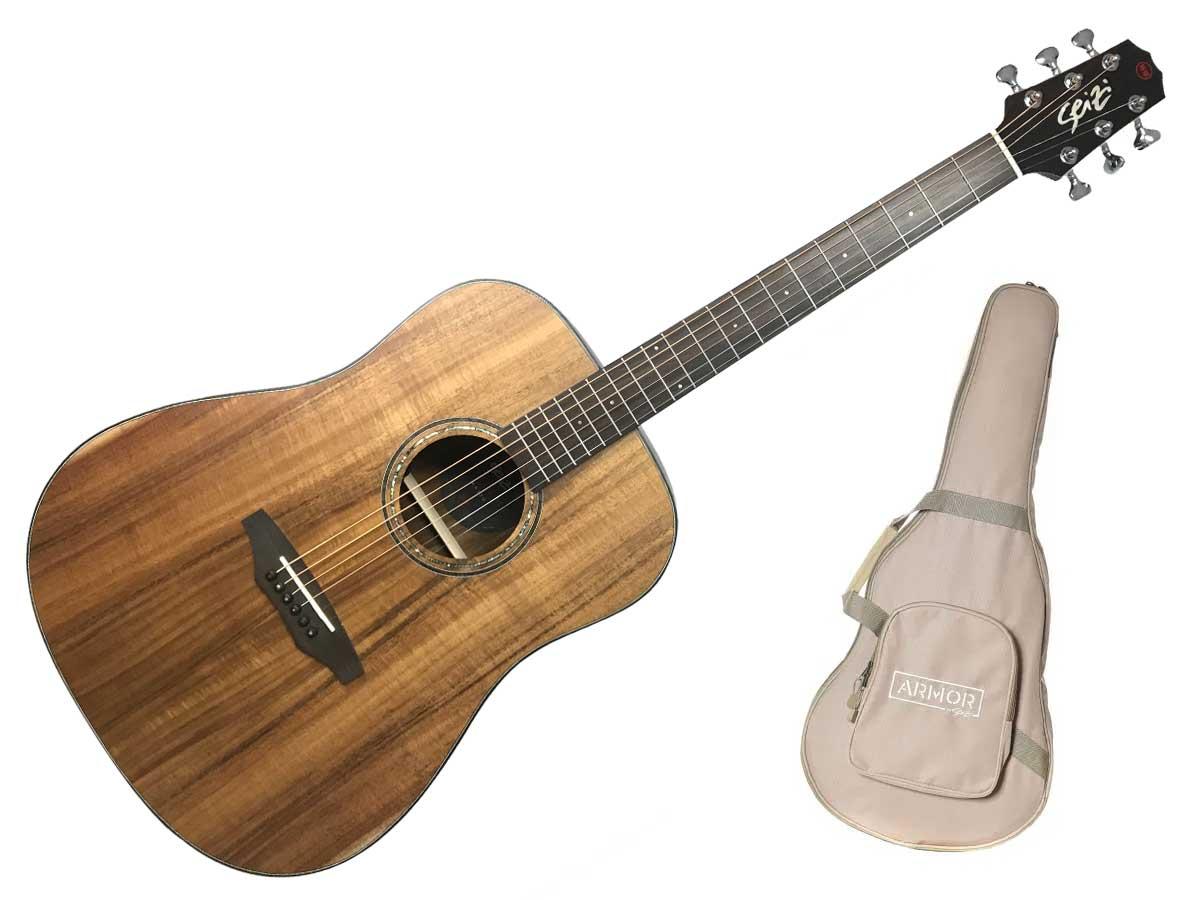 Violão Aço Seizi Supreme Kaiju Folk Eletroacústico com Bag - KOA