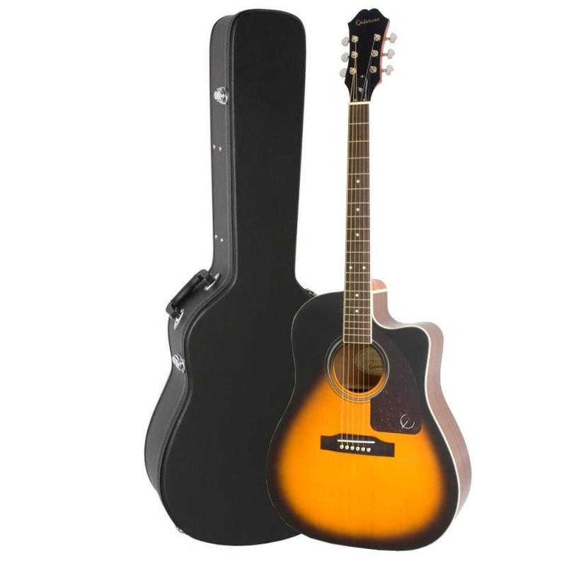Violão Epiphone AJ210CE Vintage Sunburst Outfit C/ Case 10030650 *