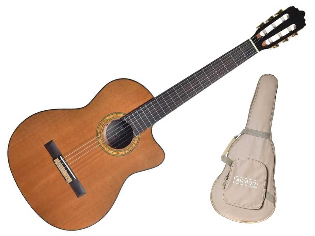Violão Nylon Seizi Supreme Yatta Cutaway Eletroacústico com Bag