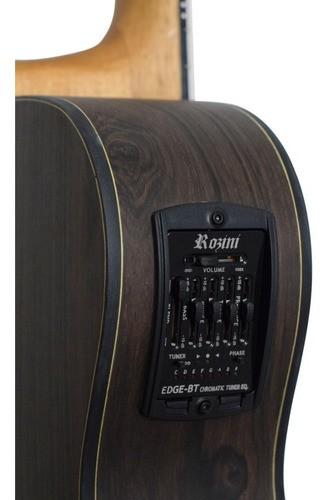 Violão Rozini RX215 Eletroacústico Aço Brasil Auditório Fosco
