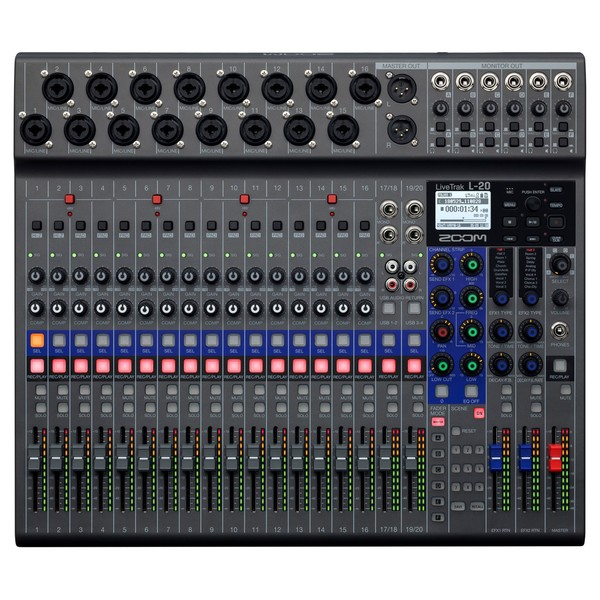 Zoom L20 Livetrack - Mesa de Som Digital para Gravação e Podcast 10020257 *