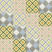 Adesivo para Azulejo Ladrilho Hidráulico Moderno Mosaico Single 15x15cm 16 peças Cosi Dimora