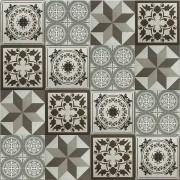 Adesivo para Azulejo Ladrilho Hidráulico Mosaico Tons de Cinza 15x15cm 16 peças Cosi Dimora