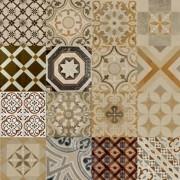 Adesivo para Azulejo Ladrilho Hidráulico Mosaico Tradicional 15x15cm 16 peças Cosi Dimora