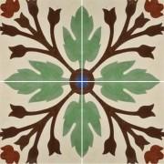 Adesivo para Azulejo Ladrilho Hidráulico Olivenza 15x15cm 16 peças Cosi Dimora