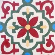 Adesivo para Azulejo Ladrilho Hidráulico Tarragona 15x15cm 16 peças Cosi Dimora