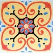 Adesivo para Azulejo Ladrilho Hidráulico Toledo 15x15cm 16 peças Cosi Dimora