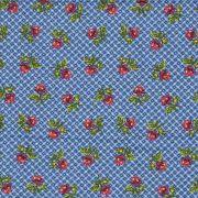 Adesivo para Azulejo Patchwork Floral Azul Vinil 15x15cm 16 peças Cosi Dimora