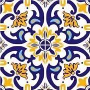 Adesivo para Azulejo Português Abrantes 15x15cm 16 peças Cosi Dimora