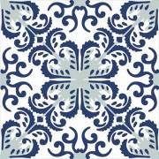 Adesivo para Azulejo Português Fátima 15x15cm 16 peças Cosi Dimora