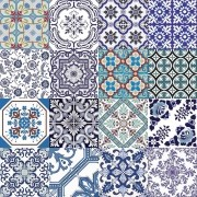 Adesivo para Azulejo Português Mosaico Almada 15x15cm 16 peças Cosi Dimora