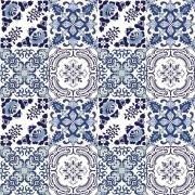 Adesivo para Azulejo Português Mosaico Gouveia 15x15cm 16 peças Cosi Dimora