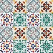 Adesivo para Azulejo Português Mosaico Guimarães 15x15cm 16 peças Cosi Dimora