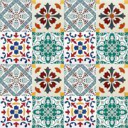 Adesivo para Azulejo Português Mosaico Guimarães Vinil 15x15cm 16 peças Cosi Dimora