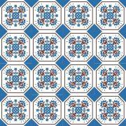 Adesivo para Azulejo Português Santana Vinil 15x15cm 16 peças Cosi Dimora