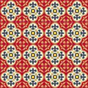Adesivo para Azulejo Português Santarém Vinil 15x15cm 16 peças Cosi Dimora