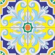 Adesivo para Azulejo Português Tavira 15x15cm 16 peças Cosi Dimora