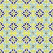 Adesivo para Azulejo Português Tavira Vinil 15x15cm 16 peças Cosi Dimora