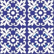 Adesivo para Azulejo Português Trancoso 15x15cm 16 peças Cosi Dimora