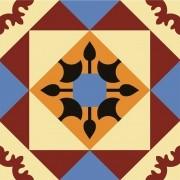 Adesivo para Azulejo Retrô Alcaide 15x15cm 16 peças Cosi Dimora