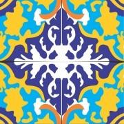 Adesivo para Azulejo Retrô Batuta 15x15cm 16 peças Cosi Dimora