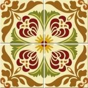 Adesivo para Azulejo Retrô Clássico 15x15cm 16 peças Cosi Dimora