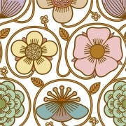 Adesivo para Azulejo Retrô Floral 15x15cm 16 peças Cosi Dimora