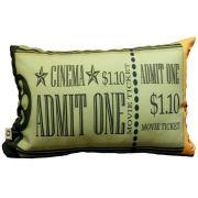 Almofada Cinema Ticket Admit One 25x35cm Cosi Dimora