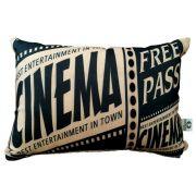 Almofada Cinema Ticket Free Pass 25x35cm Cosi Dimora