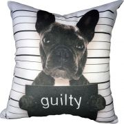 Almofada Frenchie Bulldog Guilty 40x40cm Cosi Dimora