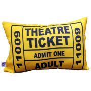 Almofada Theatre Ticket Amarela 25x35cm Cosi Dimora
