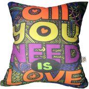 Capa de Almofada Beatles All You Need Is Love 40x40cm Cosi Dimora