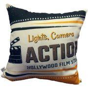 Capa de Almofada Cinema Luz, Câmera, Ação 40x40cm Cosi Dimora