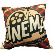 Capa de Almofada Cinema Retro 40x40cm Cosi Dimora