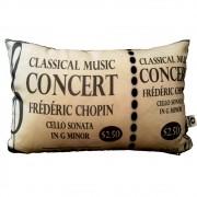 Capa de Almofada Classical Music Concert 25x35cm Cosi Dimora