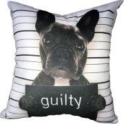 Capa de Almofada Frenchie Bulldog Guilty 40x40cm Cosi Dimora