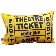 Capa de Almofada Theatre Ticket Amarela 25x35cm Cosi Dimora