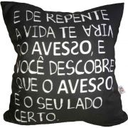 Capa de Almofada Vida do Avesso 40x40cm Cosi Dimora