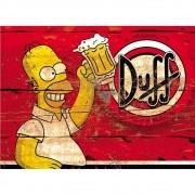 Jogo Americano Lona Emborrachada Cerveja Duff Beer 4 peças Cosi Dimora