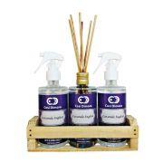 Kit Aromático Lavanda Inglesa Essência Importada Cosi Dimora 3 peças + Brinde