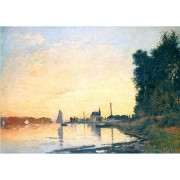 Pôster Decorativo A4 Argenteuil Late Afternoon - Claude Monet Cosi Dimora