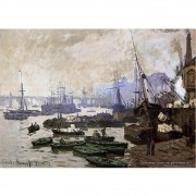 Pôster Decorativo A4 Boats in the Pool of London 1871 - Claude Monet Cosi Dimora