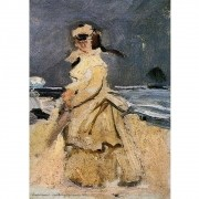 Pôster Decorativo A4 Camille on the Beach 1871 - Claude Monet Cosi Dimora