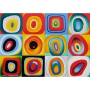 Pôster Decorativo A4 Farbstudie Quardrate - Kandinsky Cosi Dimora