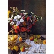 Pôster Decorativo A4 Flowers and Fruit - Claude Monet Cosi Dimora