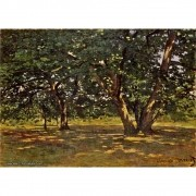 Pôster Decorativo A4 Fontainebleau Forest - Claude Monet Cosi Dimora