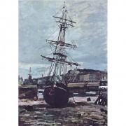 Pôster Decorativo A4 Gestrandetes Boot in Fecamp - Claude Monet Cosi Dimora