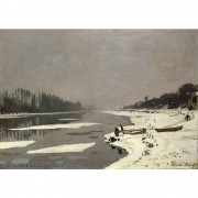 Pôster Decorativo A4 Ice Floes on the Seine at Bougival 1868 - Claude Monet Cosi Dimora