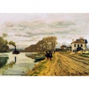 Pôster Decorativo A4 Infantry Guards Wandering Along the River - Claude Monet Cosi Dimora